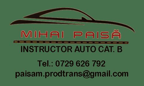 Instructor auto Mihai Paisa